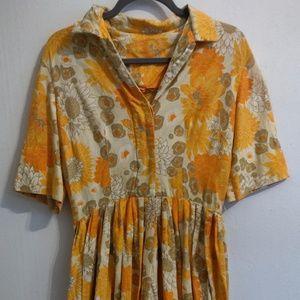floral vintage collared dress
